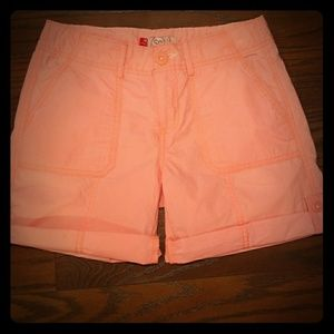 Other - Coral button up shorts
